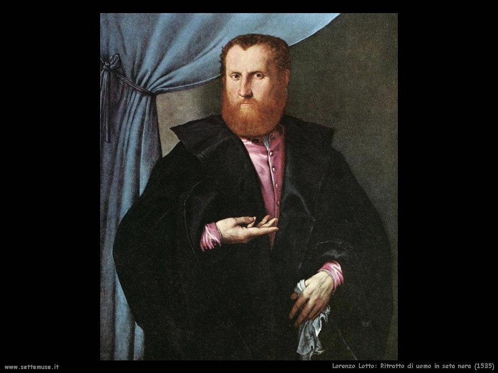 Ritratto di uomo in seta nera (1535)