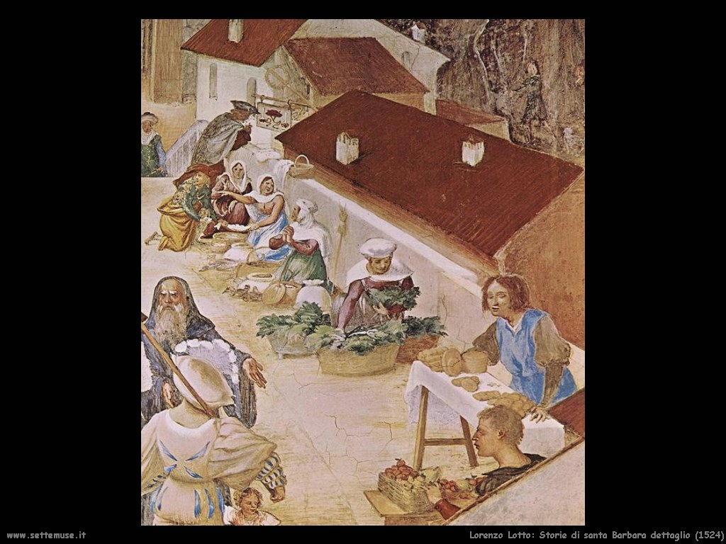Storie di Santa Barbara dettaglio (1524)