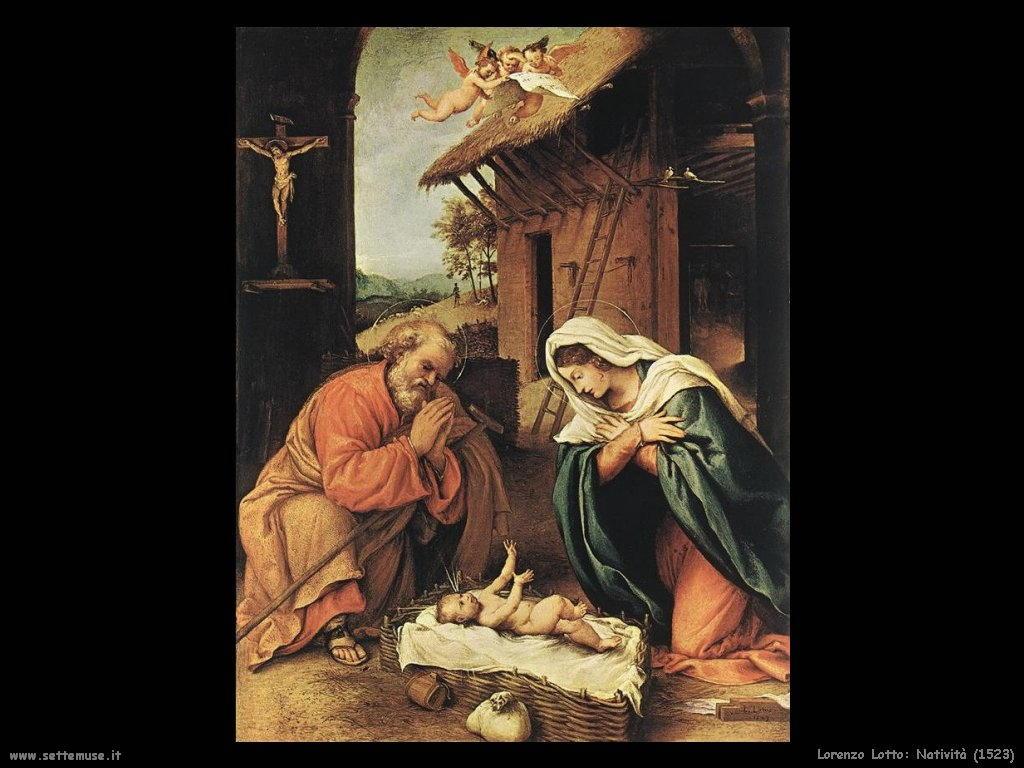 Lorenzo Lotto natività 1523