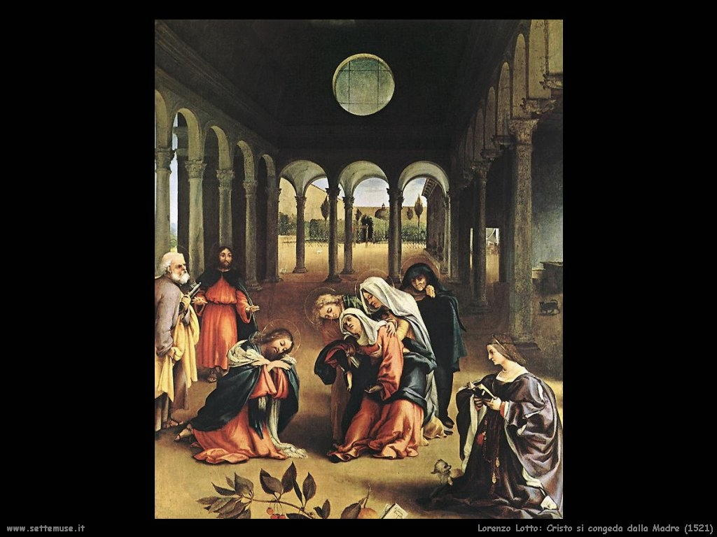 Lorenzo Lotto Cristo si congeda dalla Madre (1521)