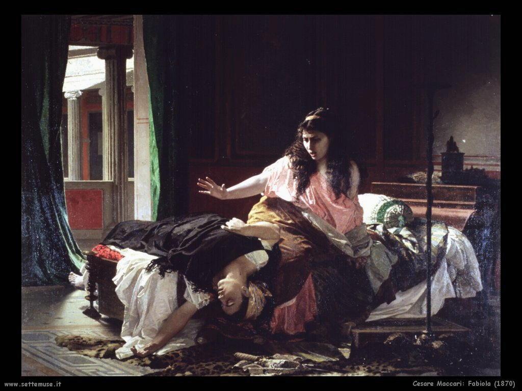 cesare maccari Fabiola (1870)