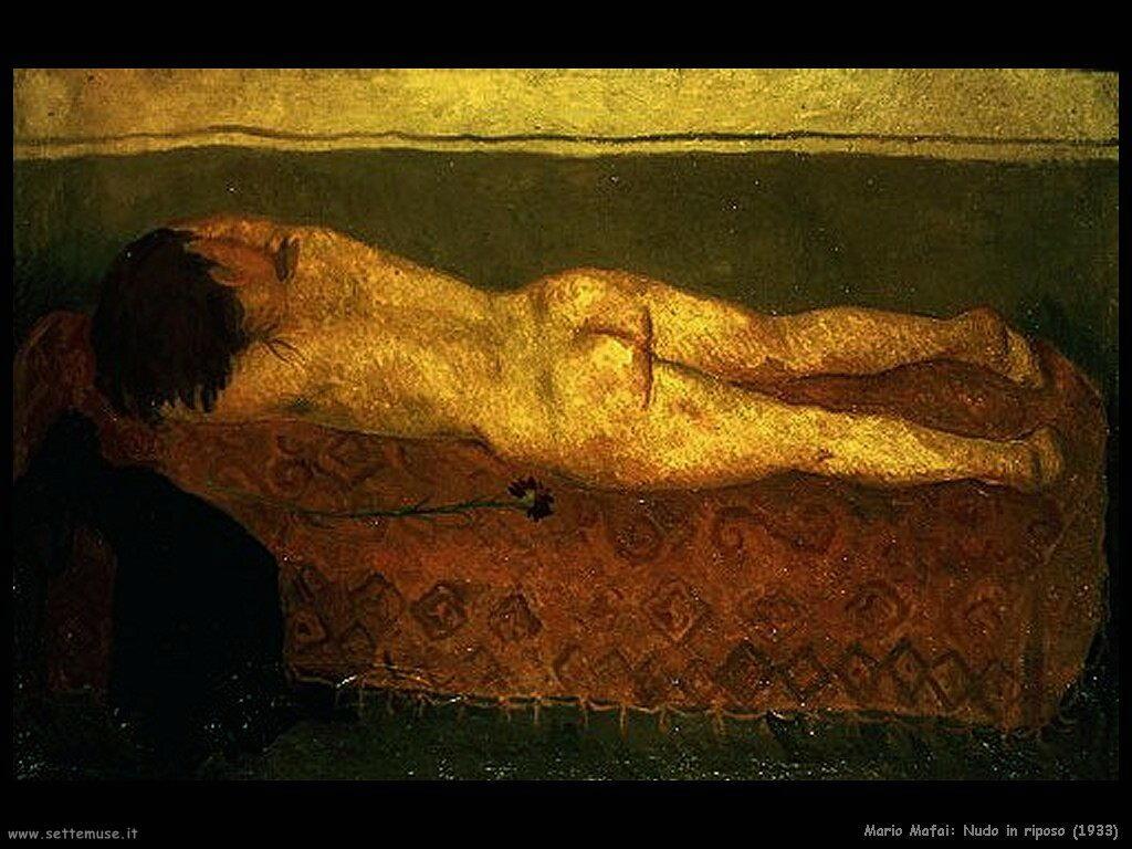 mario mafai Nudo in riposo (1933)