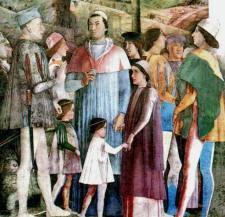 Andrea Mantegna affresco Palazzo Ducale Mantova