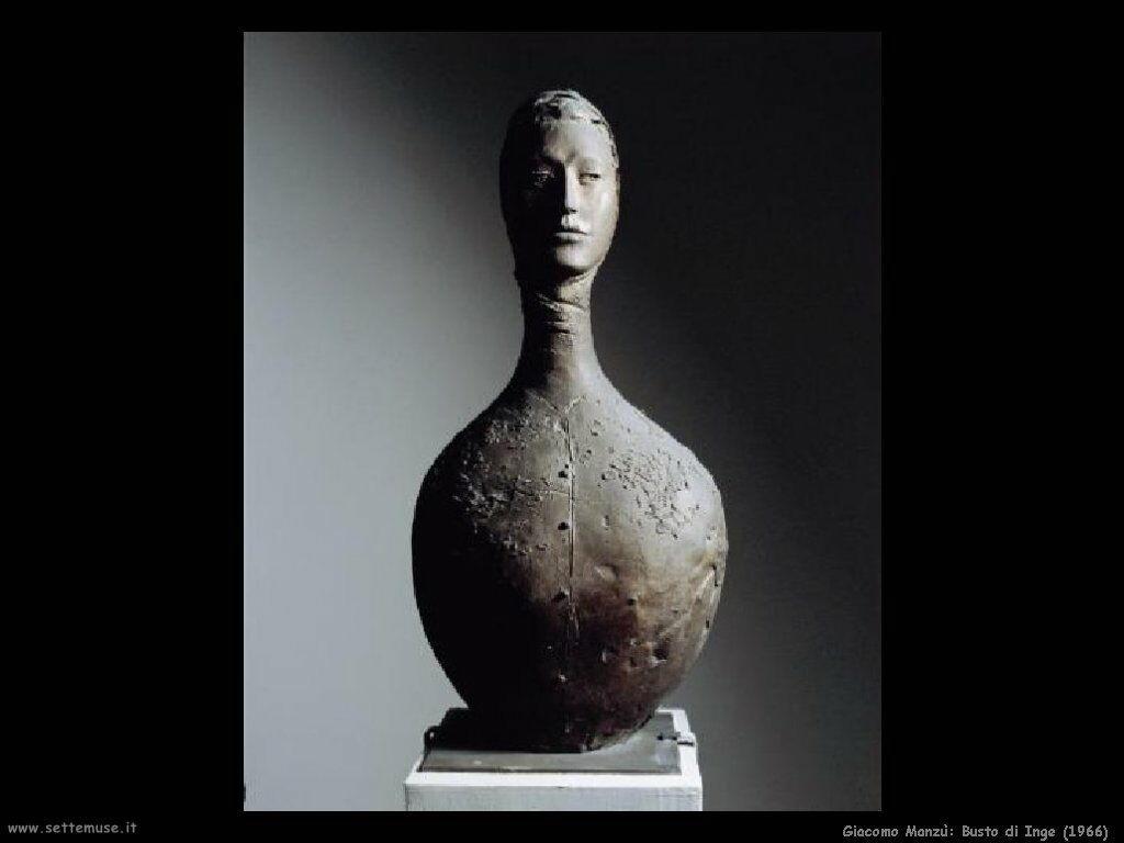 giacomo manzu Busto di Inge (1966)