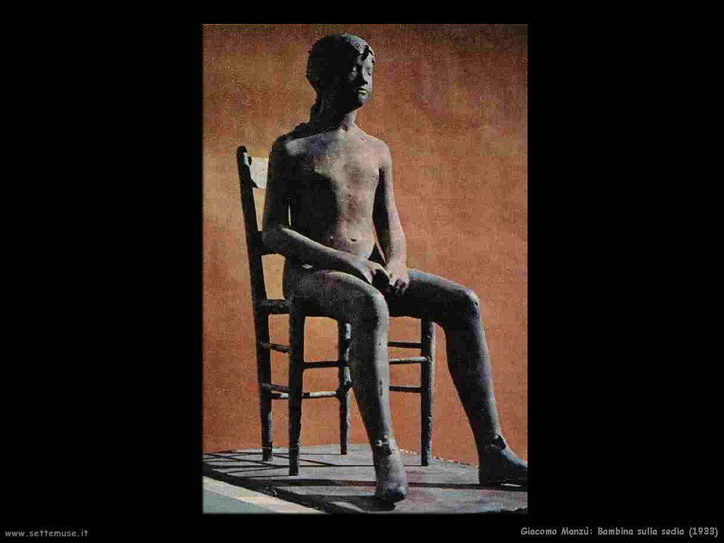 giacomo manzu Bambina sulla sedia (1933)