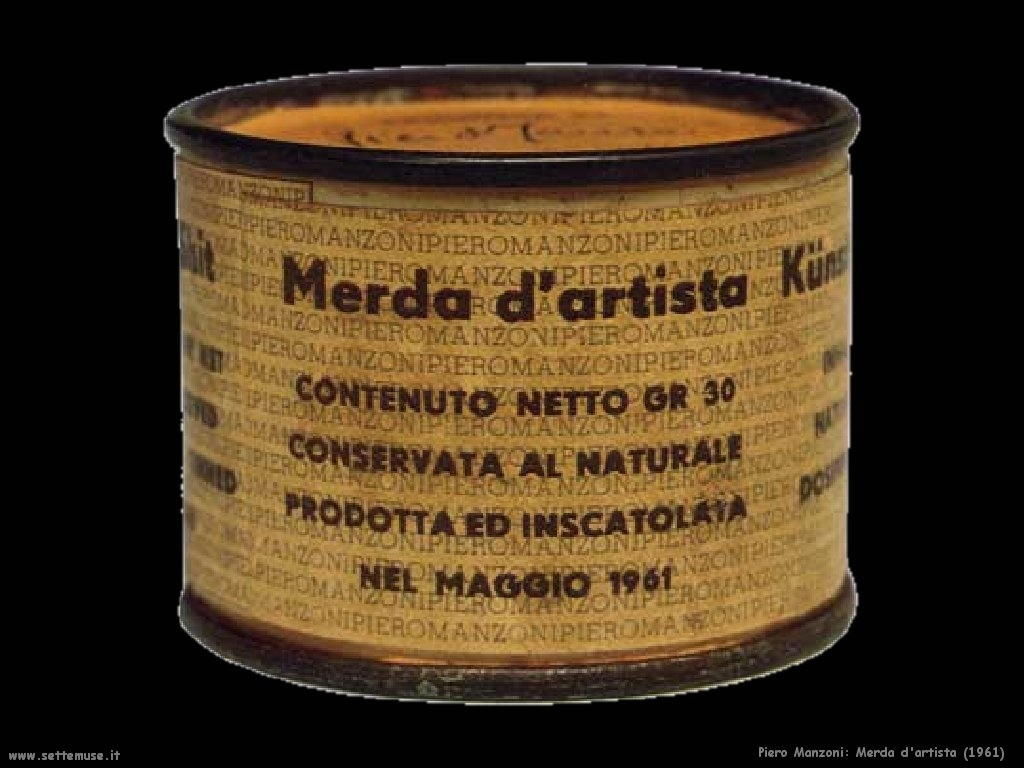piero manzoni Merda d'artista (1961)