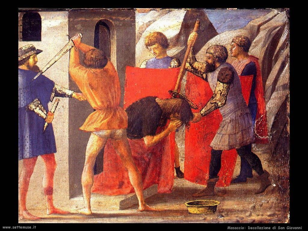 Masaccio Decollazione San Giovanni