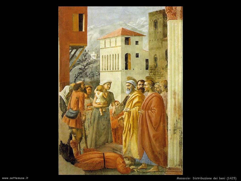Masaccio Distribuzione dei beni (1425)