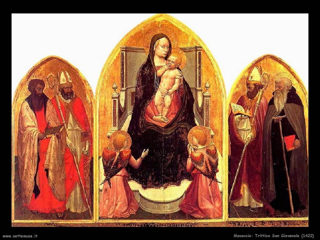 Masaccio Trittico San Giovenale (1422)