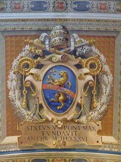 stemma papa sisto V