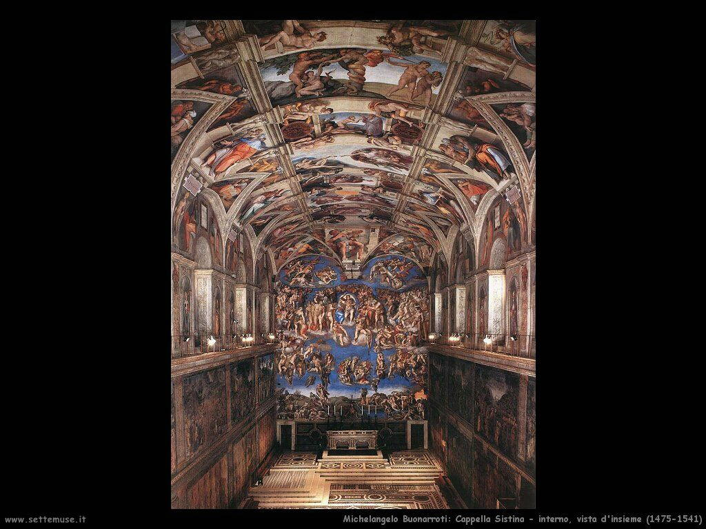 michelangelo Interno della Cappella Sistina (1475-1541)