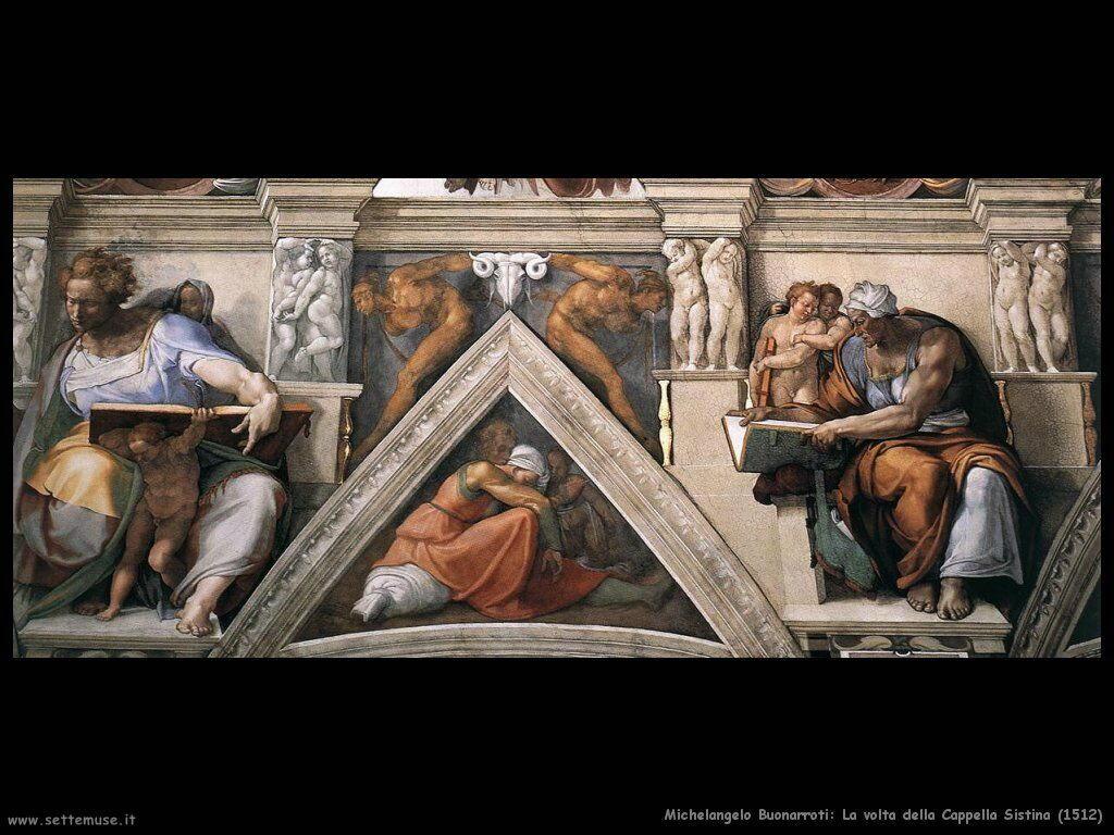 michelangelo Particolare della volta (1512)