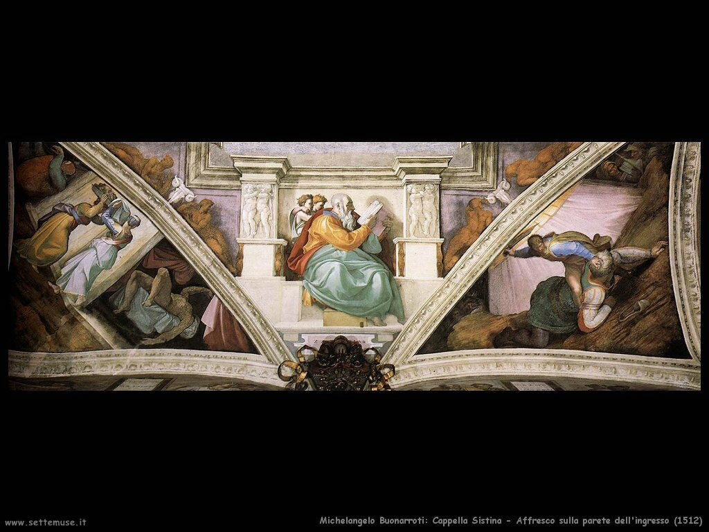 michelangelo Affresco sulla parete d'ingresso