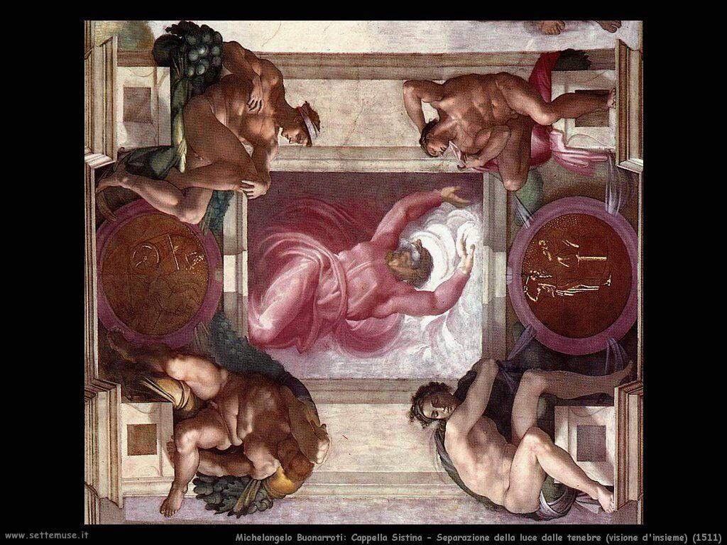michelangelo Separazione della luce dalle tenebre (1511)