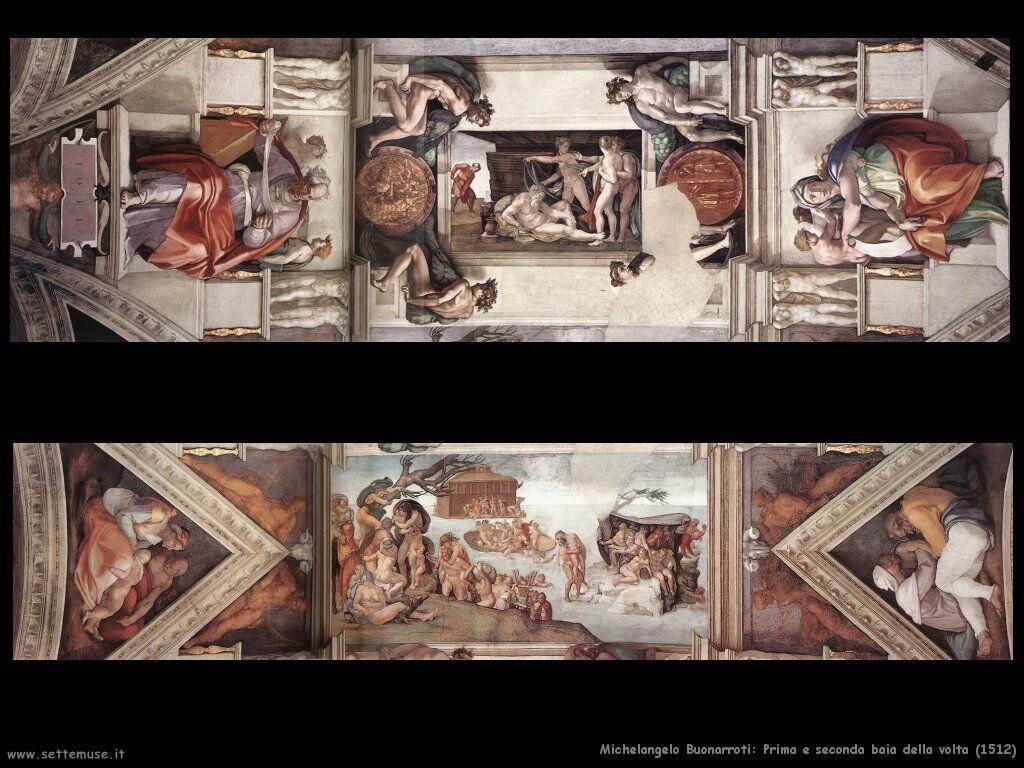 michelangelo Prima e seconda cella del soffitto (1512)