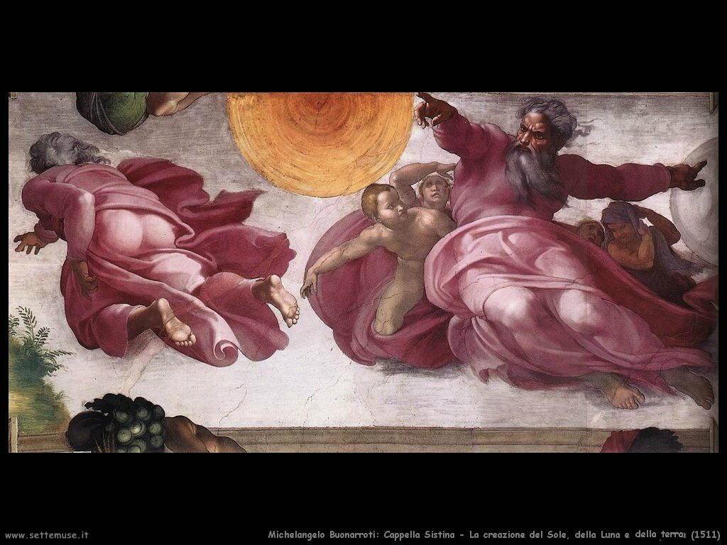 La creazione del Sole, Luna e piante (1511)