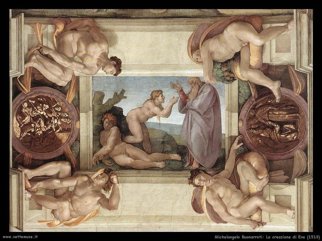 michelangelo La creazione di Eva (1510)