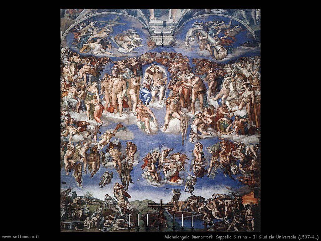 michelangelo Il Giudizio Universale quadro completo (1537-1541)