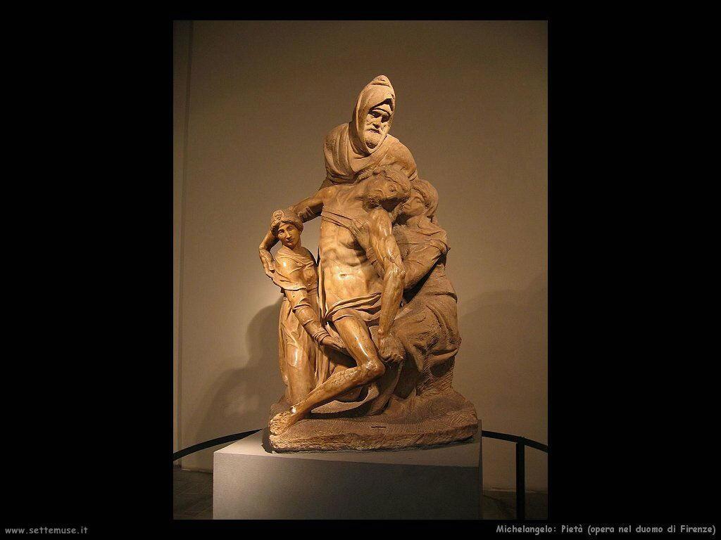 michelangelo Pietà, opera del Duomo di Firenze