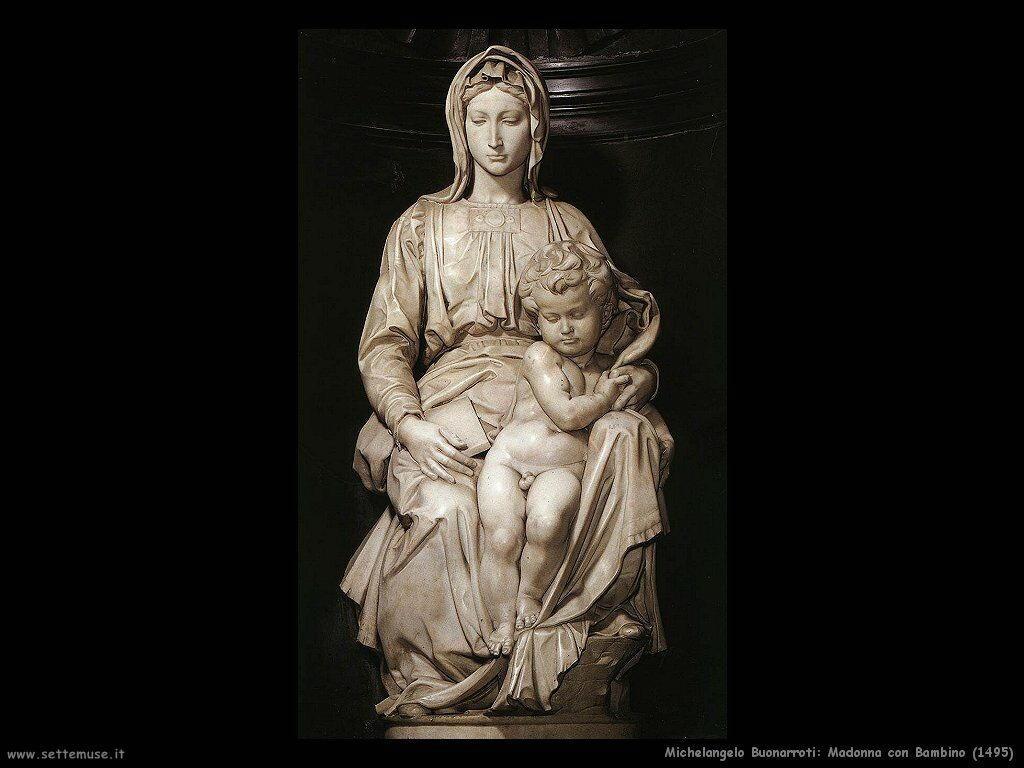 Madonna con Bambino (la statua al centro) (1495)