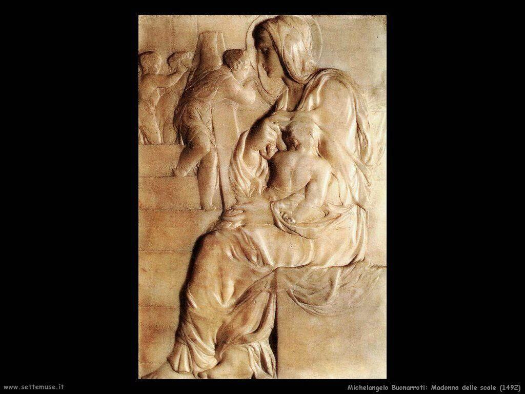 michelangelo Madonna delle scale (1492)