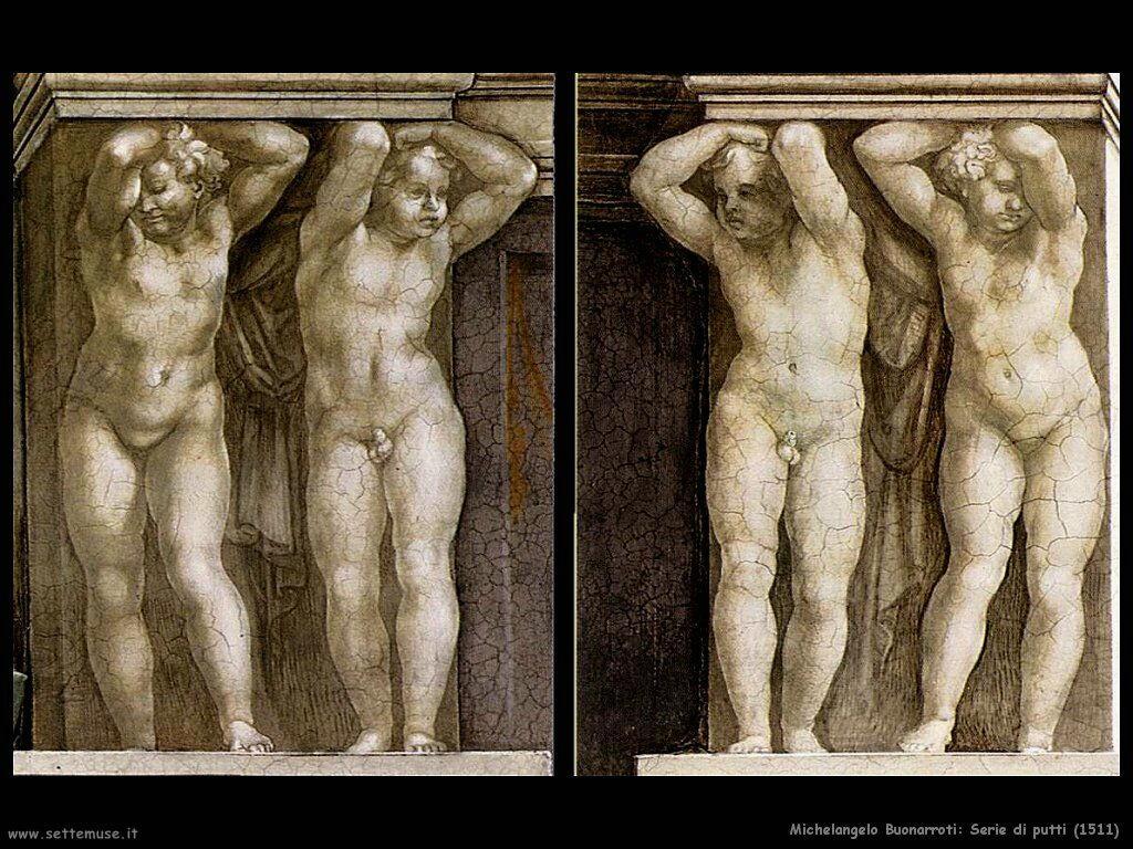 michelangelo Serie di Putti (1511)
