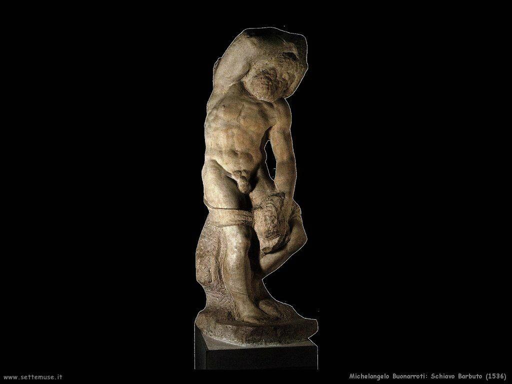 Michelangelo - Schiavo barbuto 1536