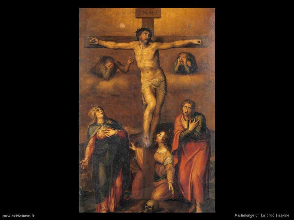 michelangelo La Crocifissione