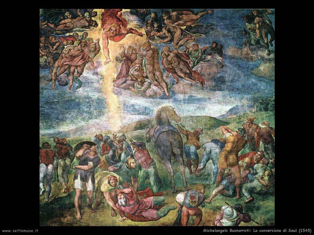 michelangelo La conversione di Saul (1545)