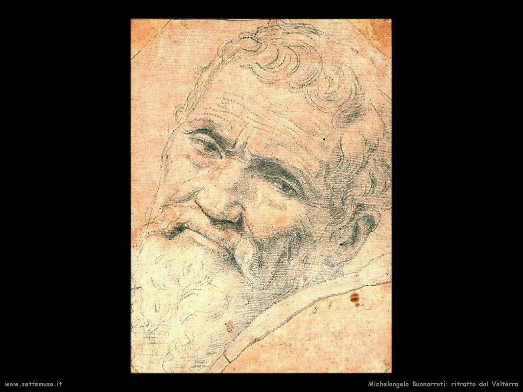 michelangelo Ritratto fatto dal Volterra