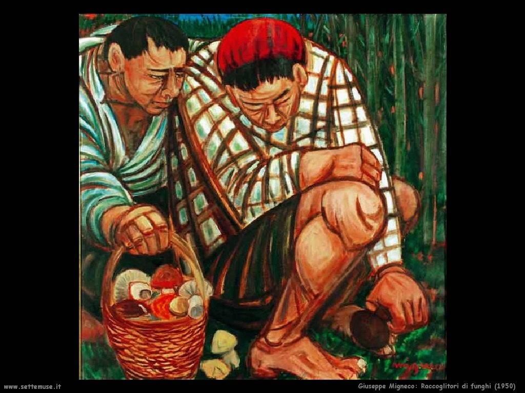 Giuseppe Migneco Raccoglitori di funghi (1950)