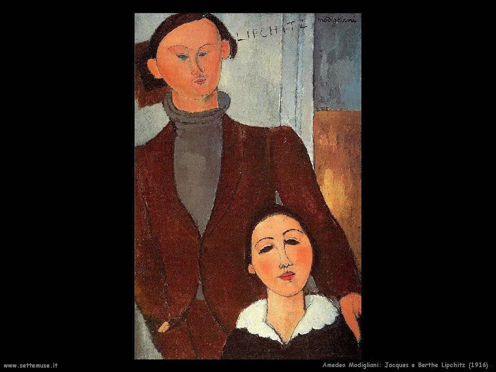 Jacques e Berthe Lipchitz (1916)