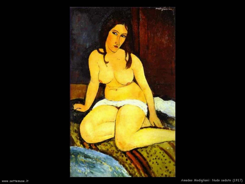 Nudo seduto (1917)