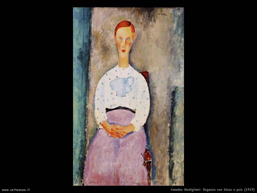 Ragazza con blusa a pois (1919)