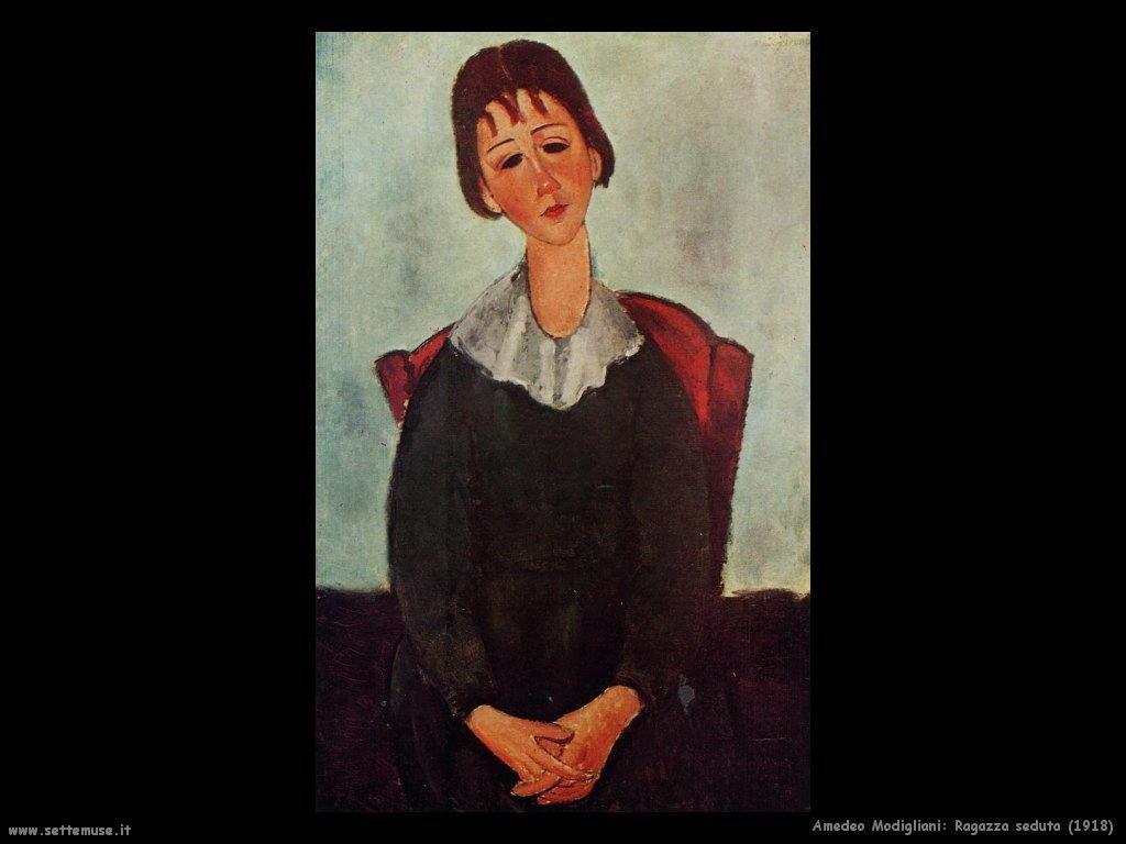 Ragazza seduta (1918)