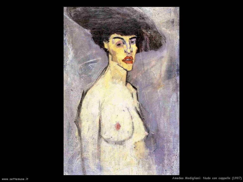 Nudo con cappello (1907)