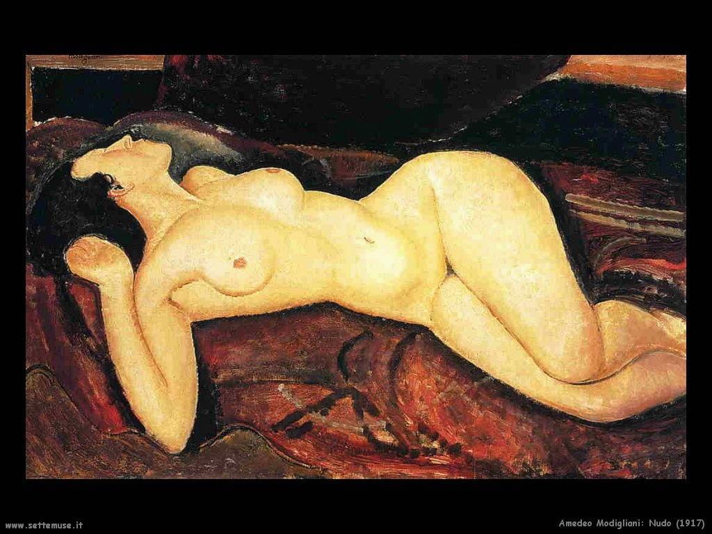 amedeo modigliani Nudo (1917)