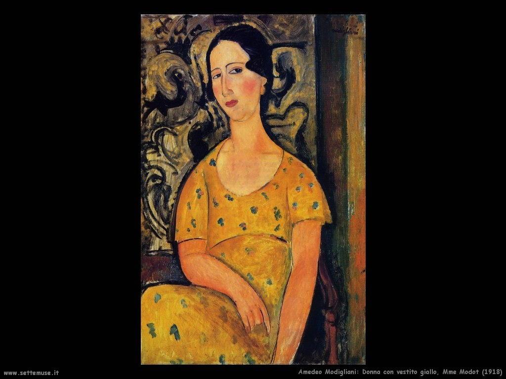 Donna con vestito giallo Mme Modot (1918)