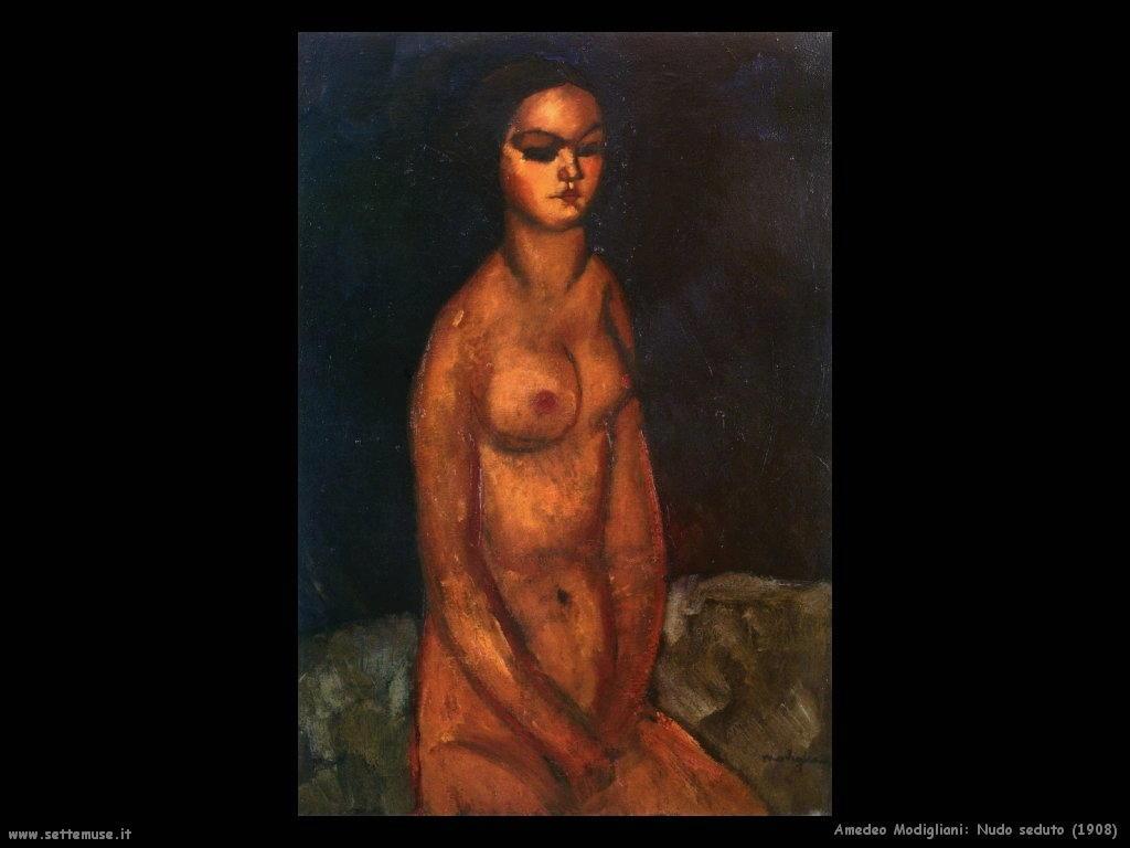 amedeo modigliani Nudo seduto (1908)