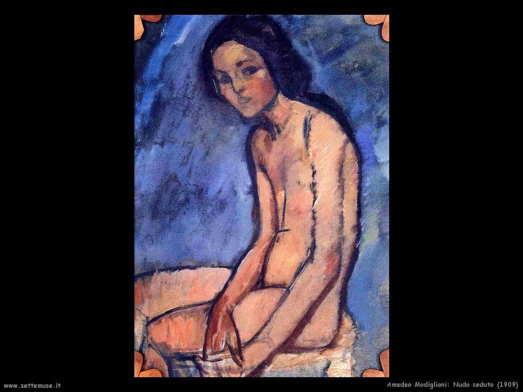 Nudo seduto (1909)