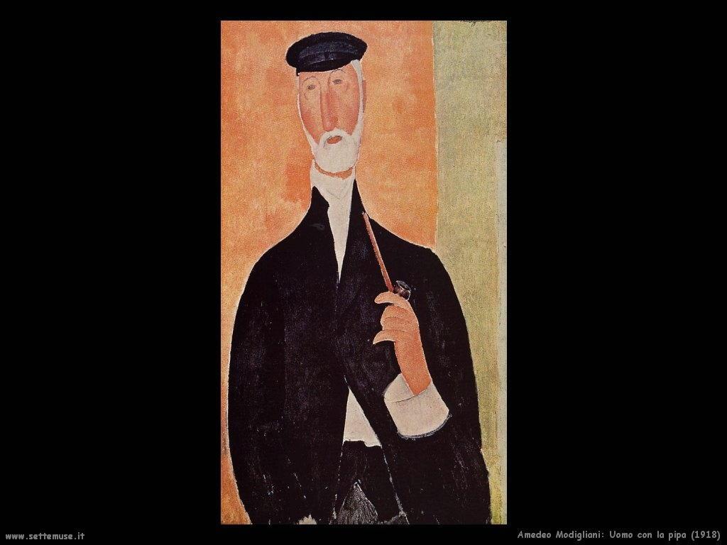 Uomo con la pipa (1918)
