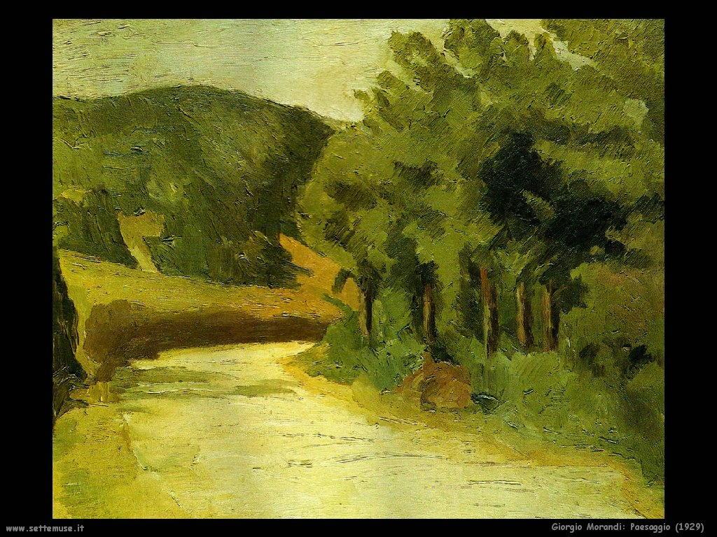 giorgio morandi Paesaggio (1929)