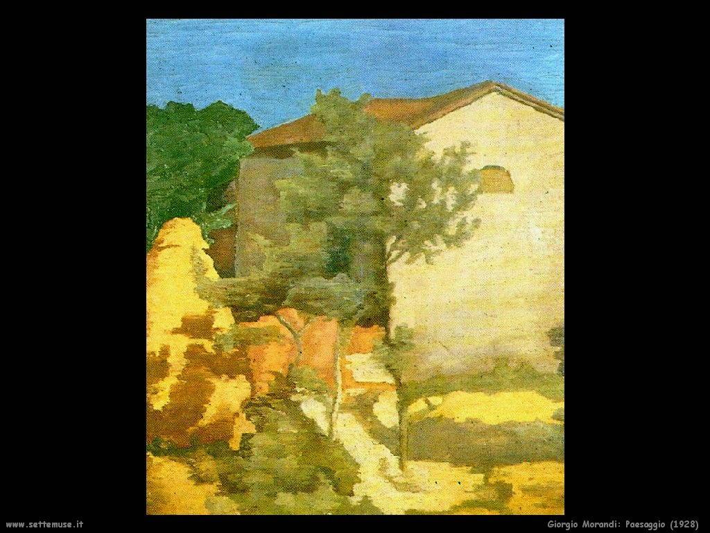 giorgio morandi Paesaggio (1928)