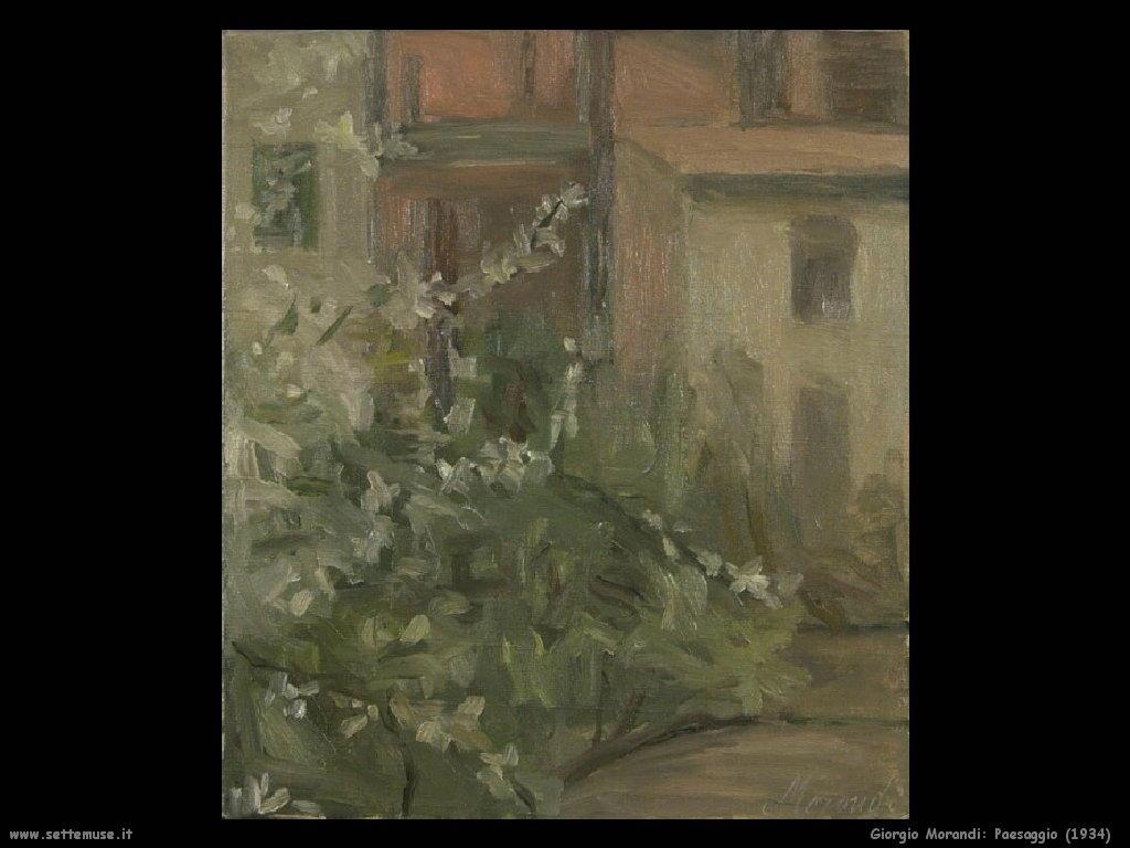 giorgio morandi Paesaggio (1934)