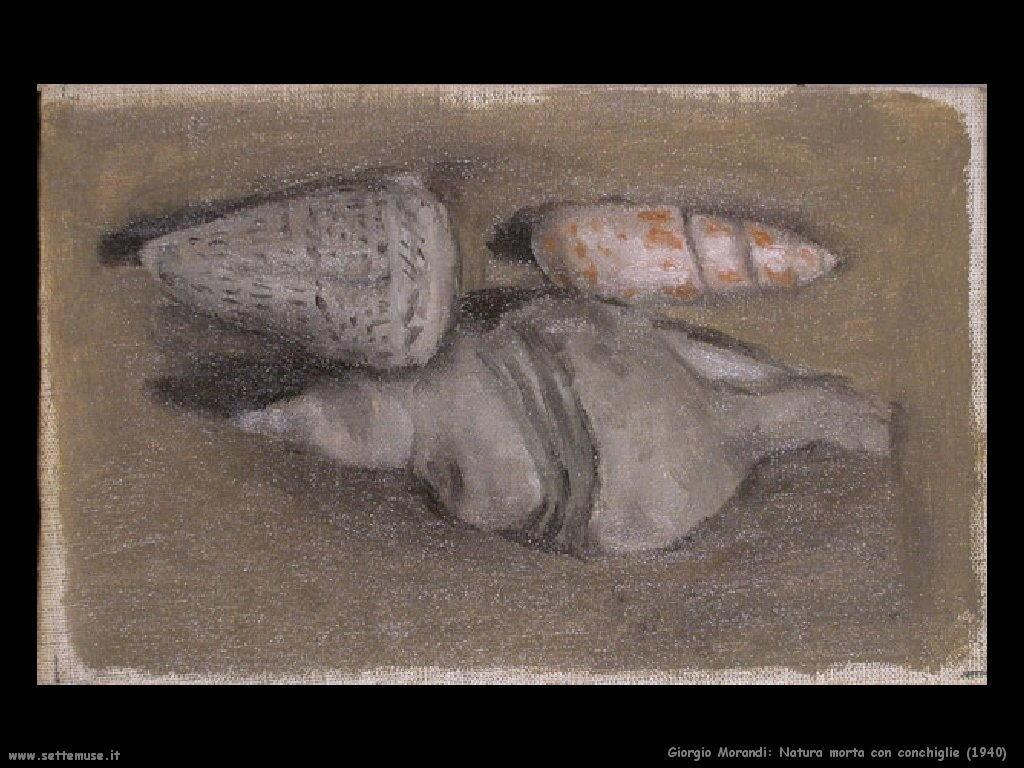 giorgio morandi Natura morta con conchiglie (1940)