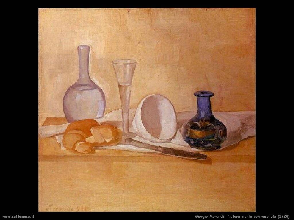 giorgio morandi Natura morta con vaso blu (1920)