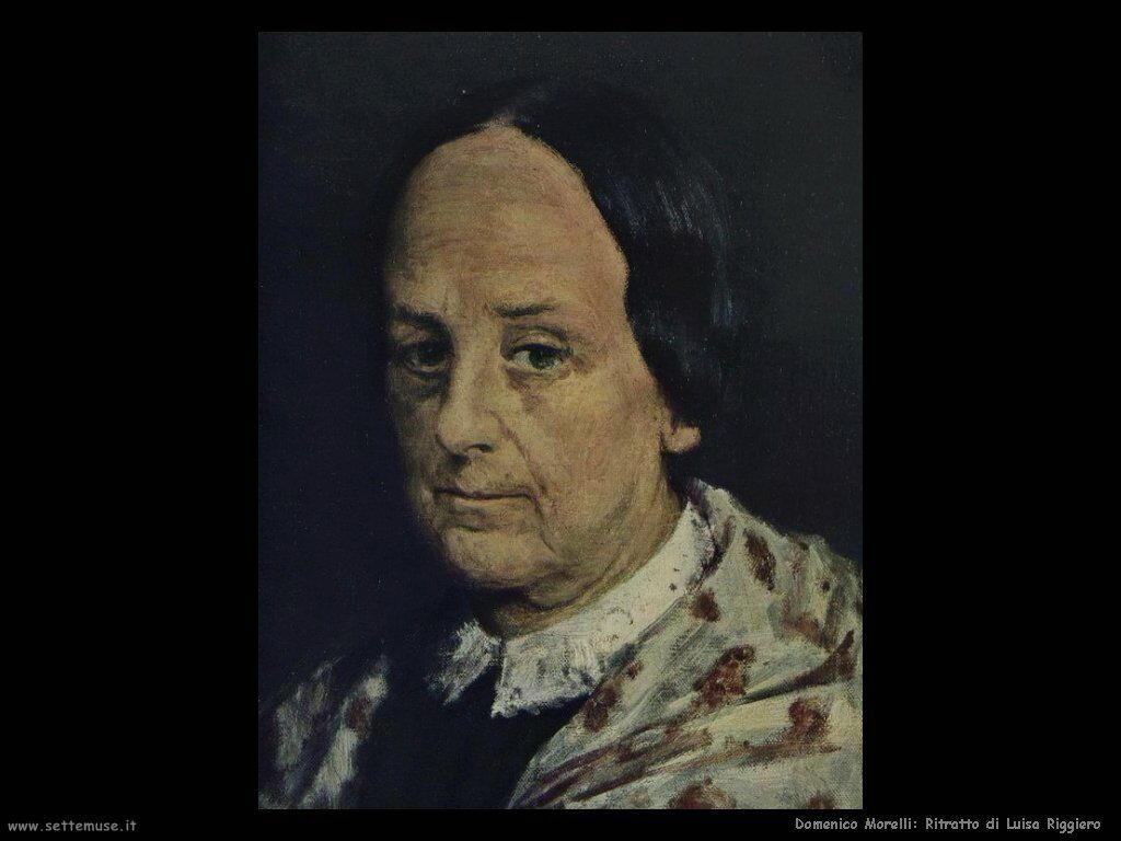 domenico morelli Ritratto di Luisa Riggiero