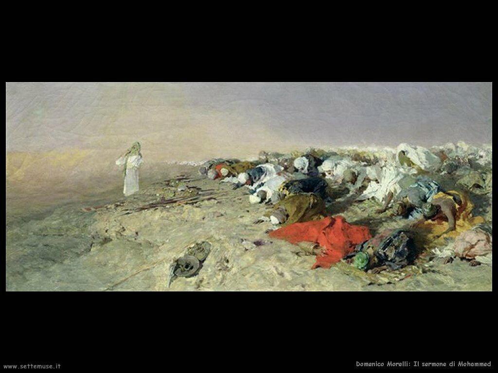 domenico morelli Il sermone di Mohammed