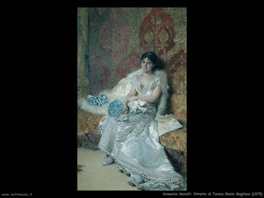 domenico morelli Ritratto di Teresa Oneto Maglione  (1879)