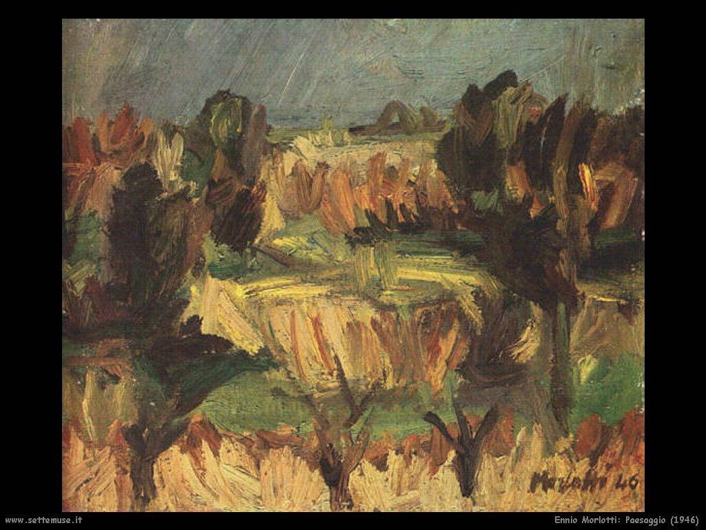 Ennio Morlotti Paesaggio (1946)